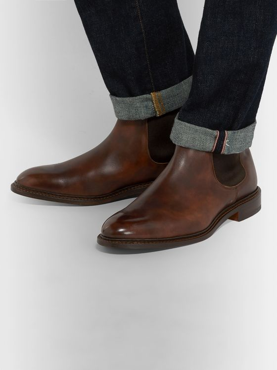 Tricker's Roxbury Leather Chelsea Boots