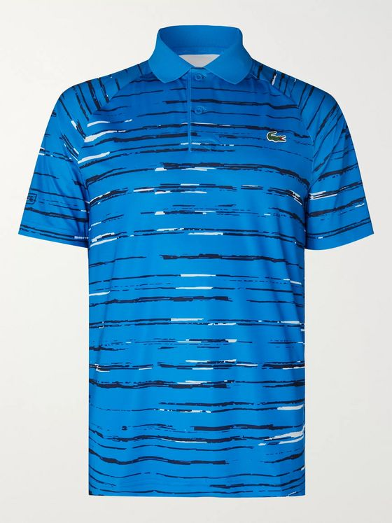 Lacoste Tennis + Novak Djokovic Printed Tech-Jersey Tennis Polo Shirt