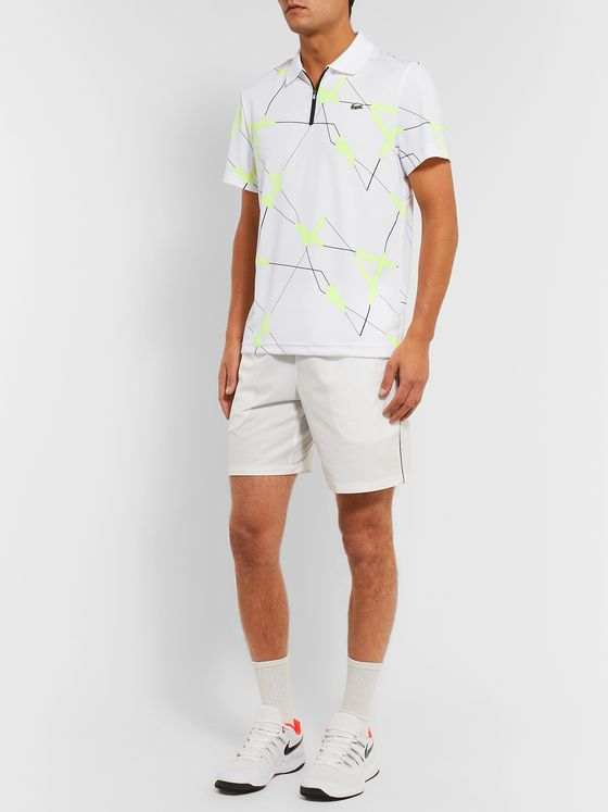 Lacoste Tennis Printed Tech-Jersey Tennis Polo Shirt