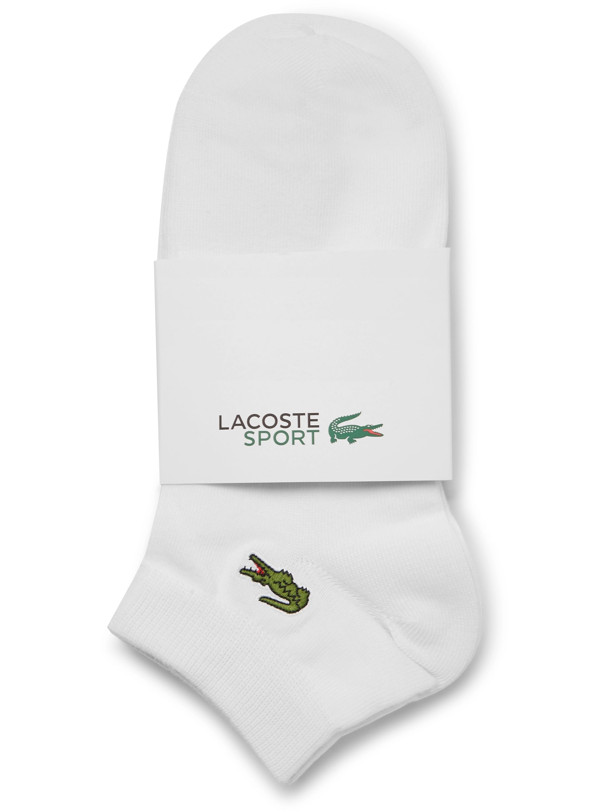 Lacoste Tennis Three-Pack Logo-Appliquéd Stretch Cotton-Blend Socks
