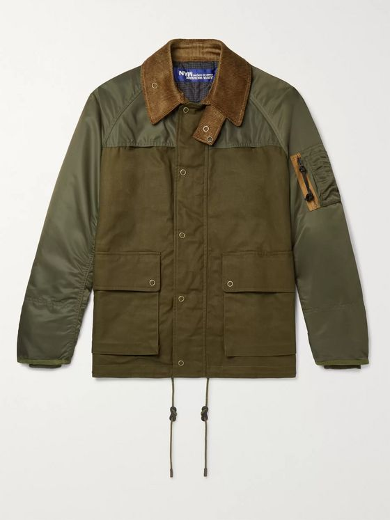 Junya Watanabe Panelled Shell and Cotton-Canvas Jacket