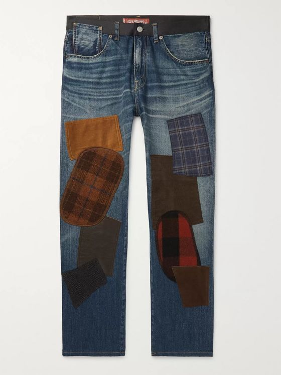Junya Watanabe + Levi's 501 Tapered Patchwork Selvedge Denim Jeans