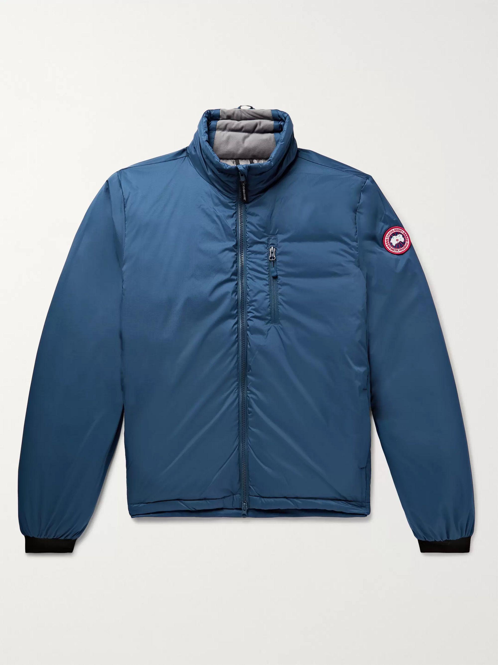 Lodge Slim Fit Nylon Ripstop Hooded Down Jacket