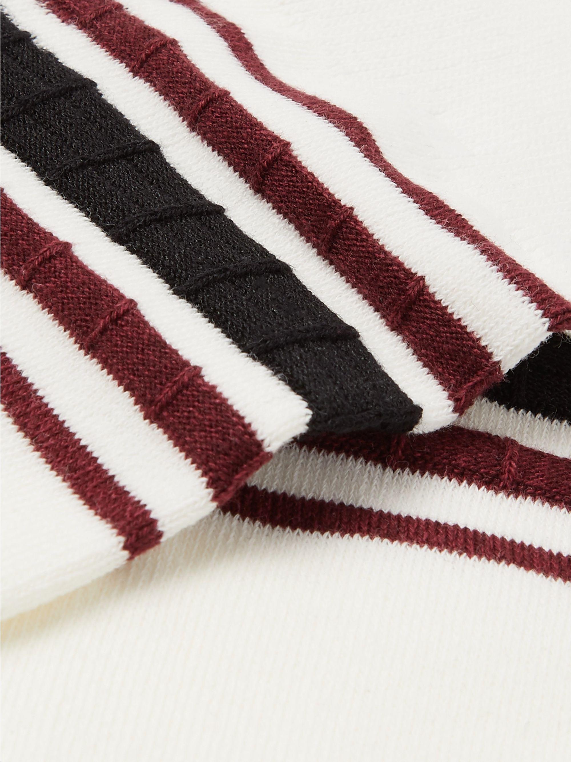 N/A Striped Stretch Cotton-Blend Socks