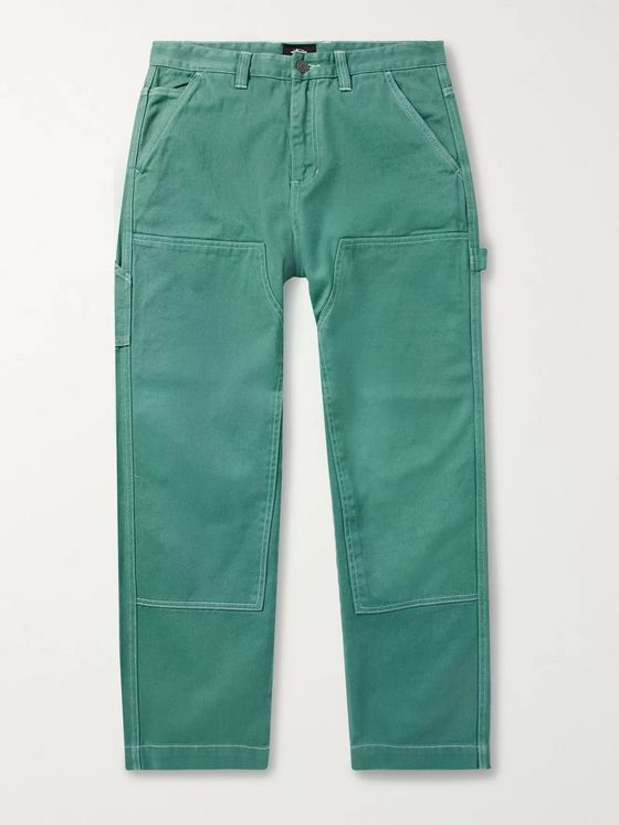 Stüssy Wide-Leg Garment-Dyed Bull Denim Jeans