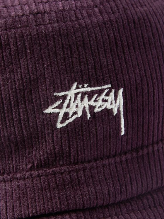 Stüssy Logo-Embroidered Cotton-Corduroy Bucket Hat