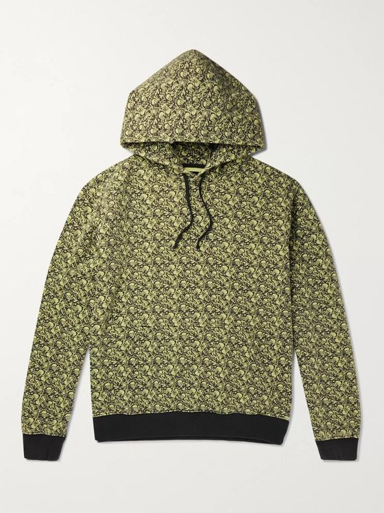 Stüssy Printed Fleece-Back Cotton-Jersey Hoodie