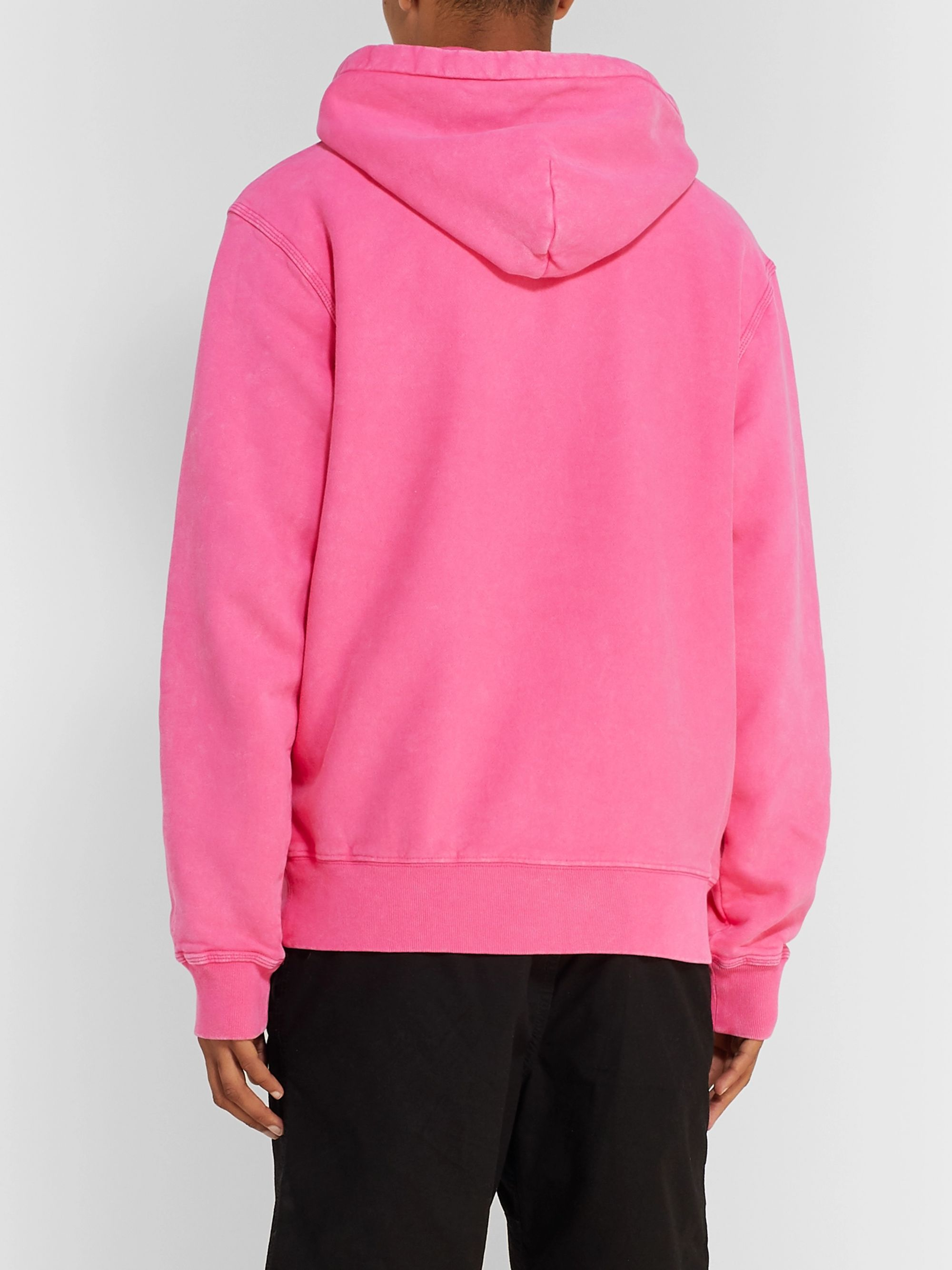 Stüssy Logo-Embroidered Fleece-Back Cotton-Jersey Hoodie