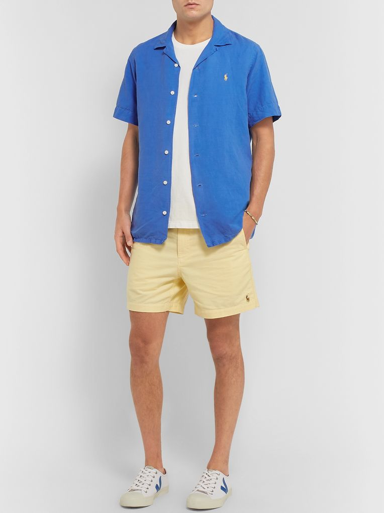 Polo Ralph Lauren Camp-Collar Linen, Tencel and Cotton-Blend Shirt