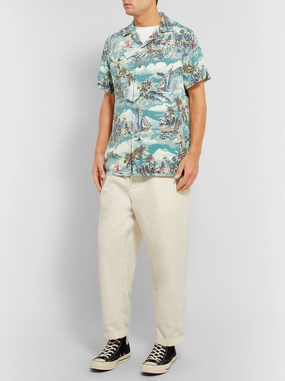 Polo Ralph Lauren Camp-Collar Printed Voile Shirt