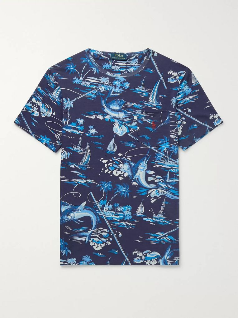 Polo Ralph Lauren Slim-Fit Printed Cotton-Jersey T-Shirt