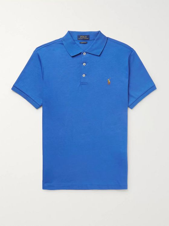 Polo Ralph Lauren Slim-Fit Pima Cotton-Jersey Polo Shirt