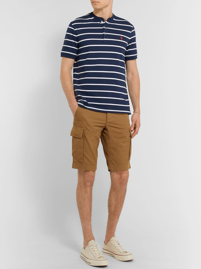 Polo Ralph Lauren Slim-Fit Striped Cotton-Piqué Henley T-shirt