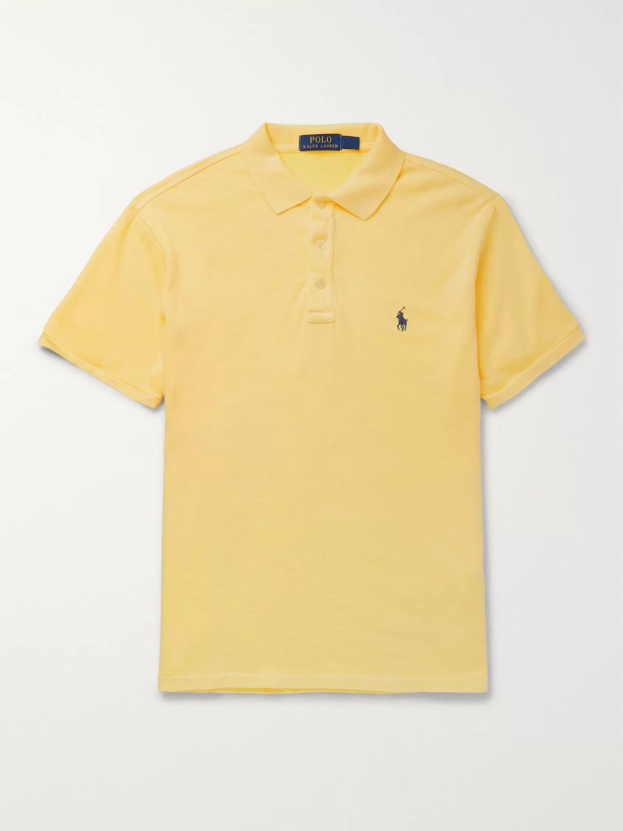 yellow ralph lauren polo shirt
