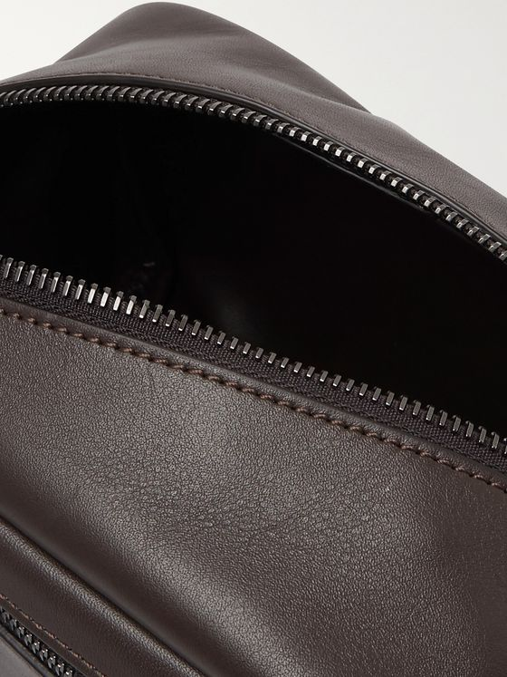 Álvaro 17 Leather Wash Bag