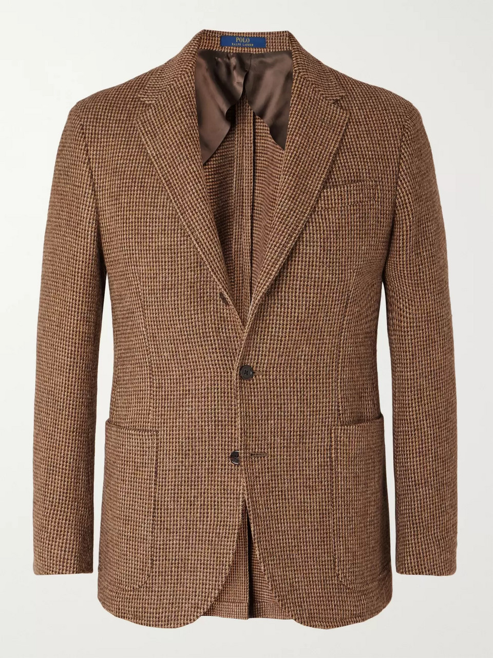 Polo Ralph Lauren Brown Slim-Fit Checked Wool and Alpaca-Blend Blazer