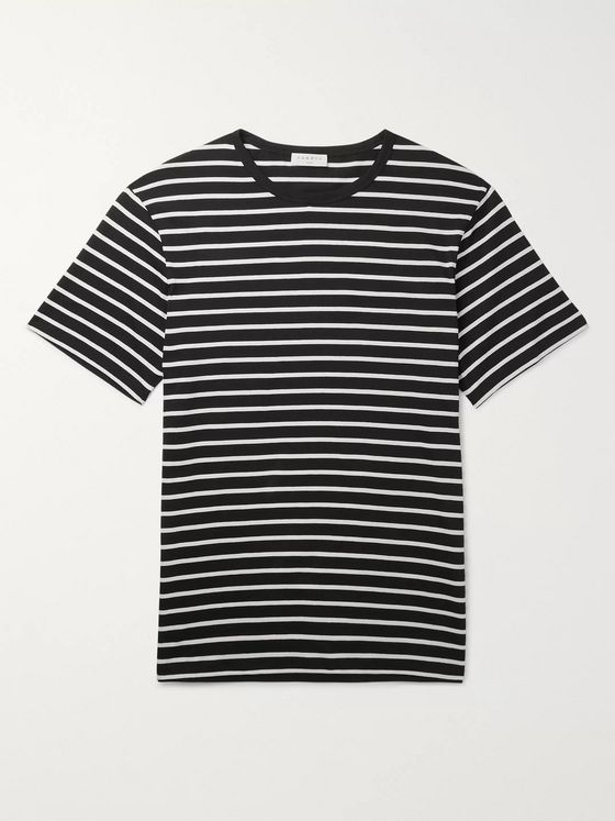 Sandro Slim-Fit Striped Cotton-Jersey T-Shirt