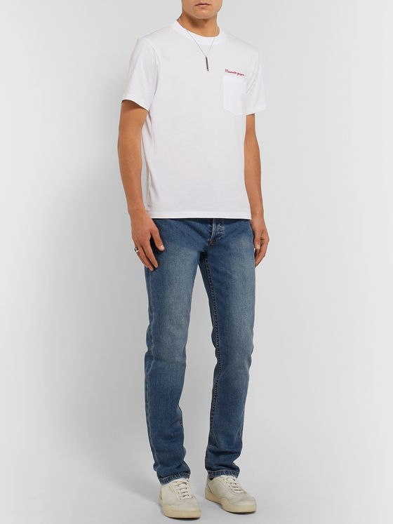 Sandro Slim-Fit Embroidered Cotton-Jersey T-Shirt