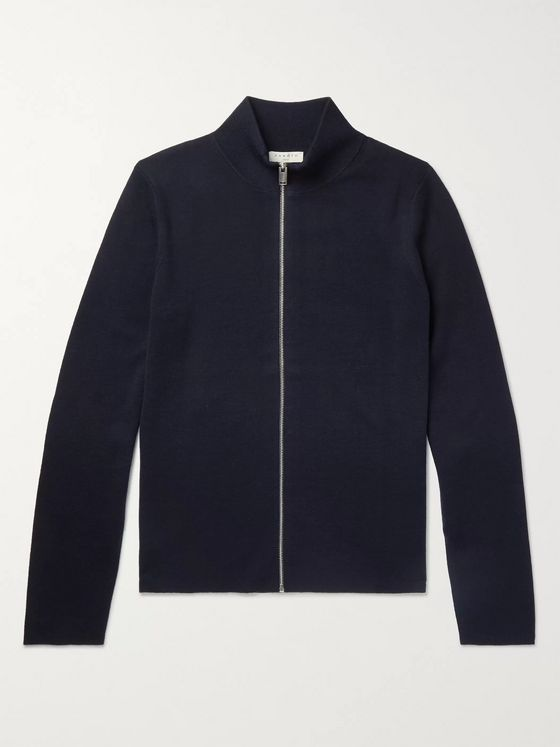 Sandro Wool Zip-Up Cardigan