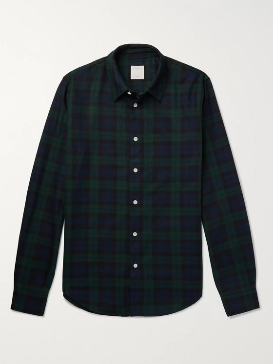 Sandro Slim-Fit Tartan Cotton Shirt
