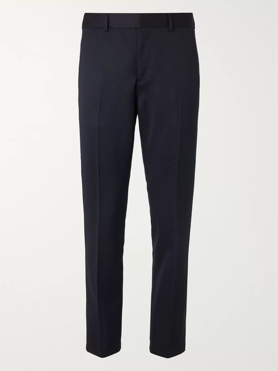 Sandro Midnight-Blue Tapered Twill Trousers