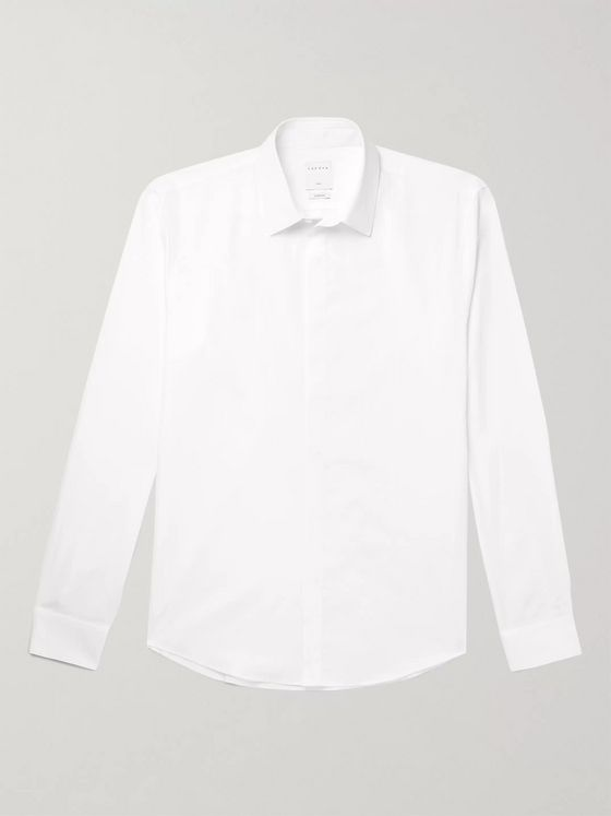 Sandro Slim-Fit Cotton-Poplin Shirt