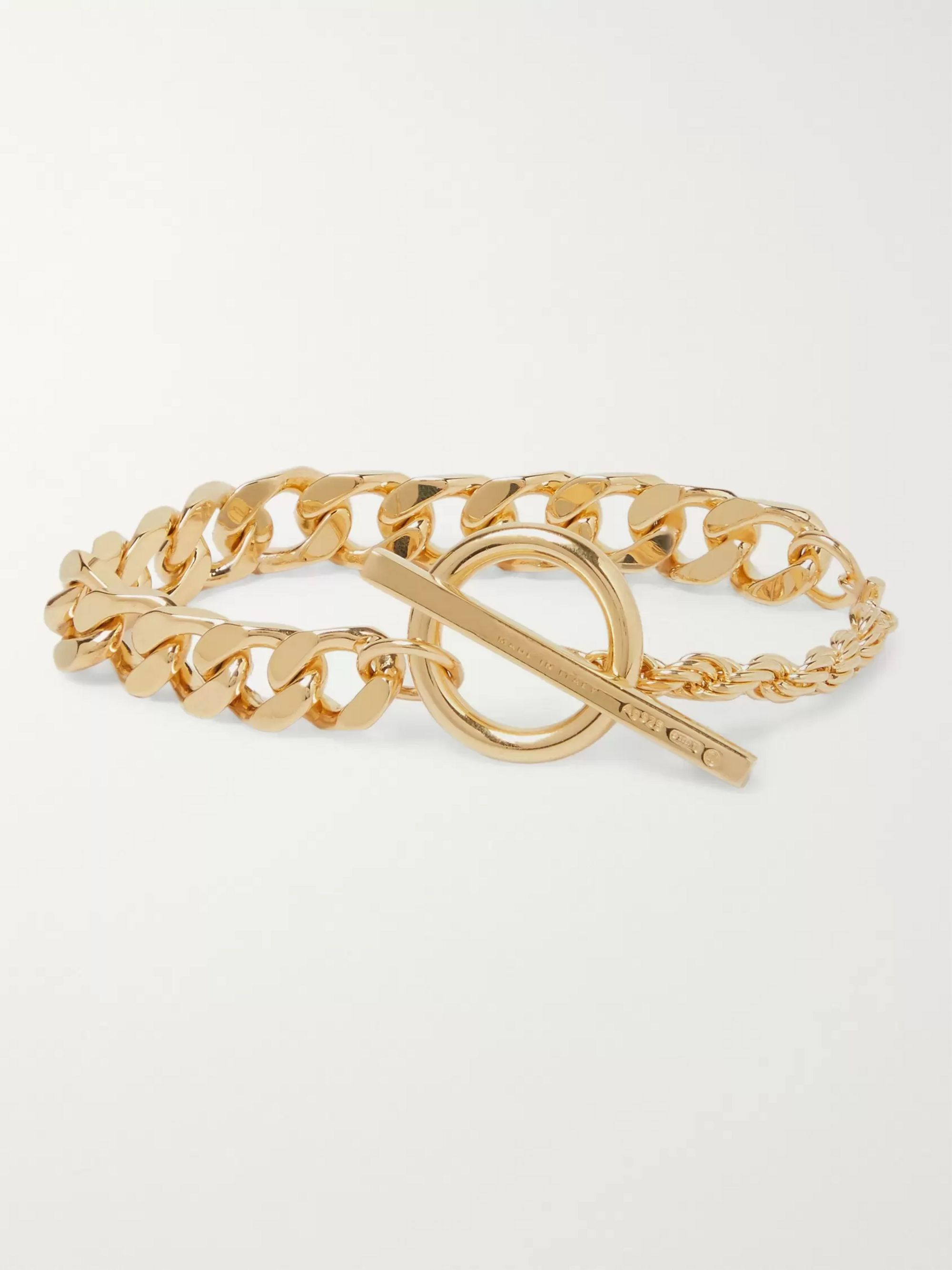 Bottega Veneta Gold-Plated Chain Bracelet