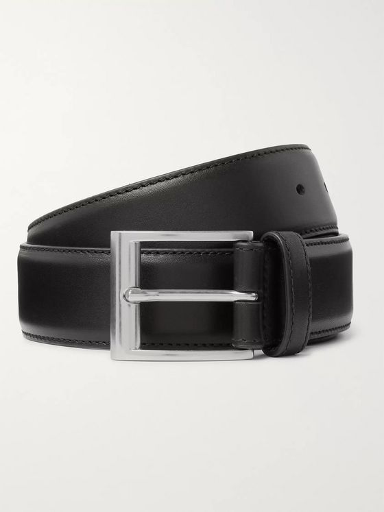 Bottega Veneta 3.5cm Black Leather Belt