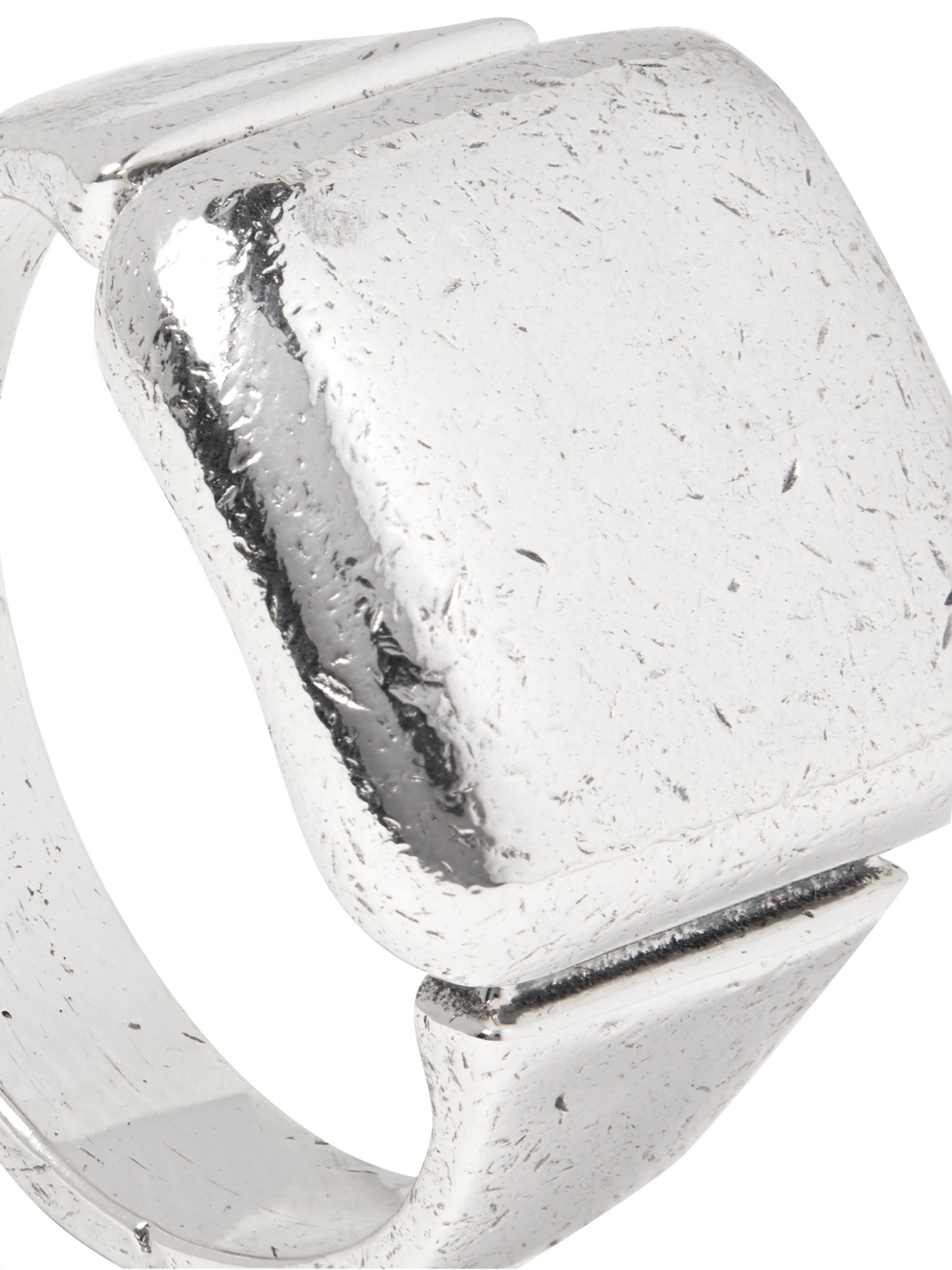 Bottega Veneta Textured Sterling Silver Ring