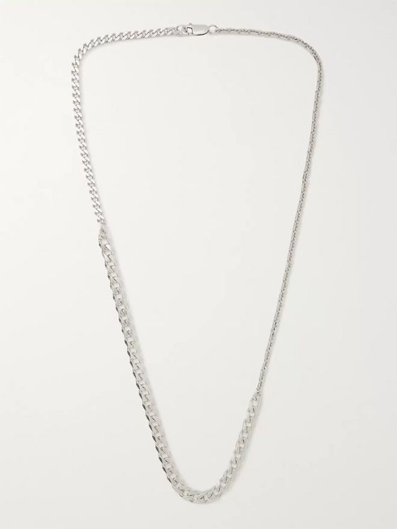 Bottega Veneta Sterling Silver Necklace