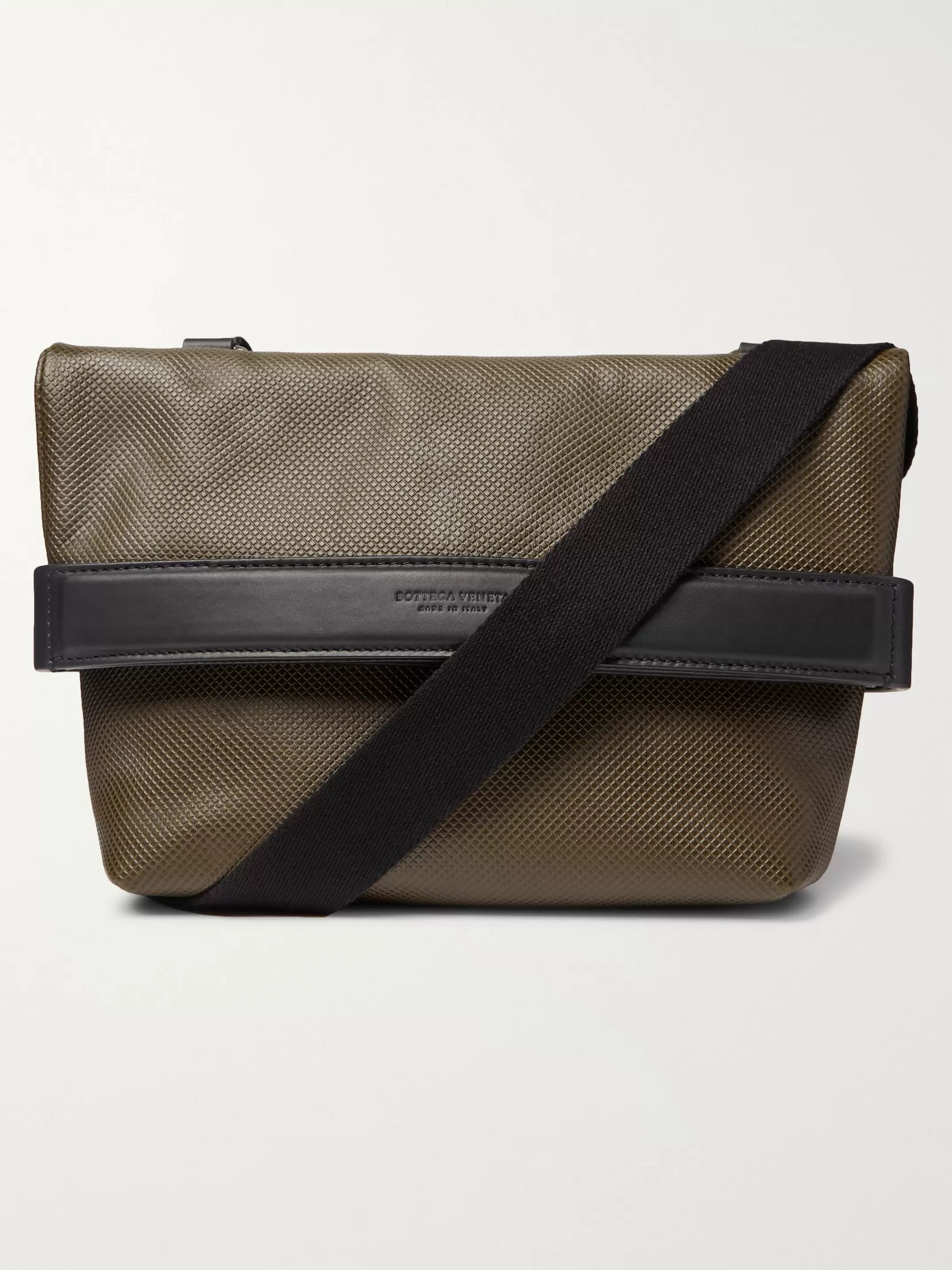 Bottega Veneta Textured-Leather Messenger Bag