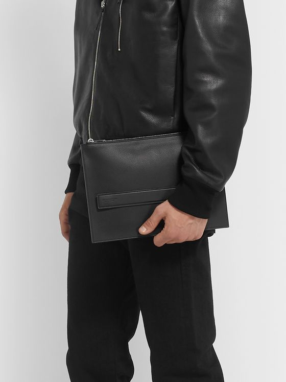 Bottega Veneta Textured-Leather Pouch