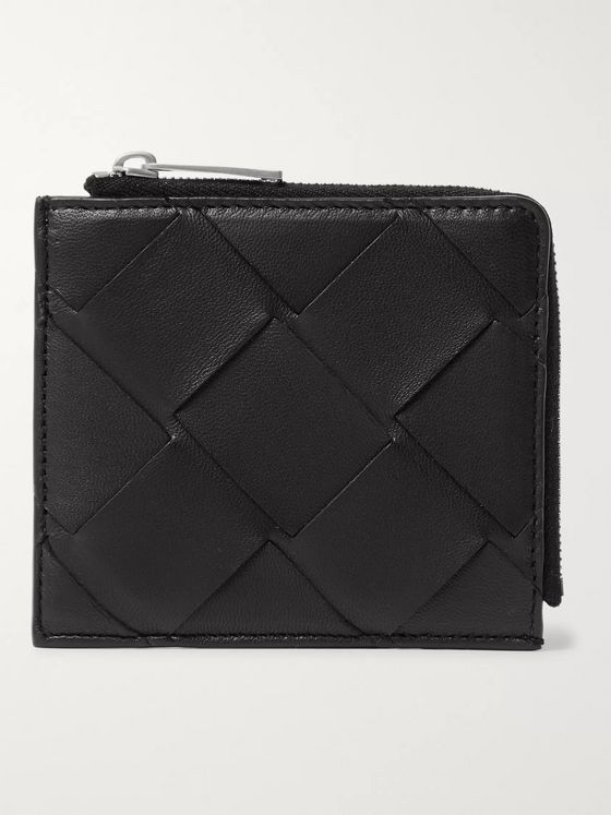 Bottega Veneta Intrecciato Leather Zip-Around Wallet