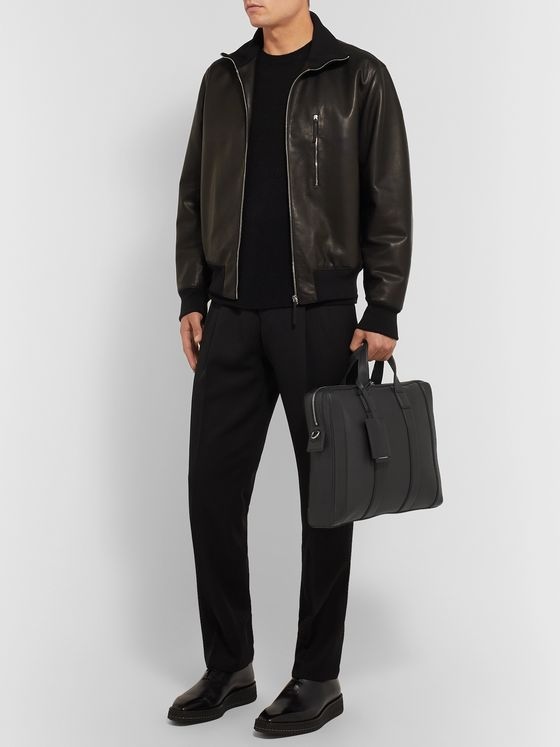 Bottega Veneta Textured-Leather Briefcase