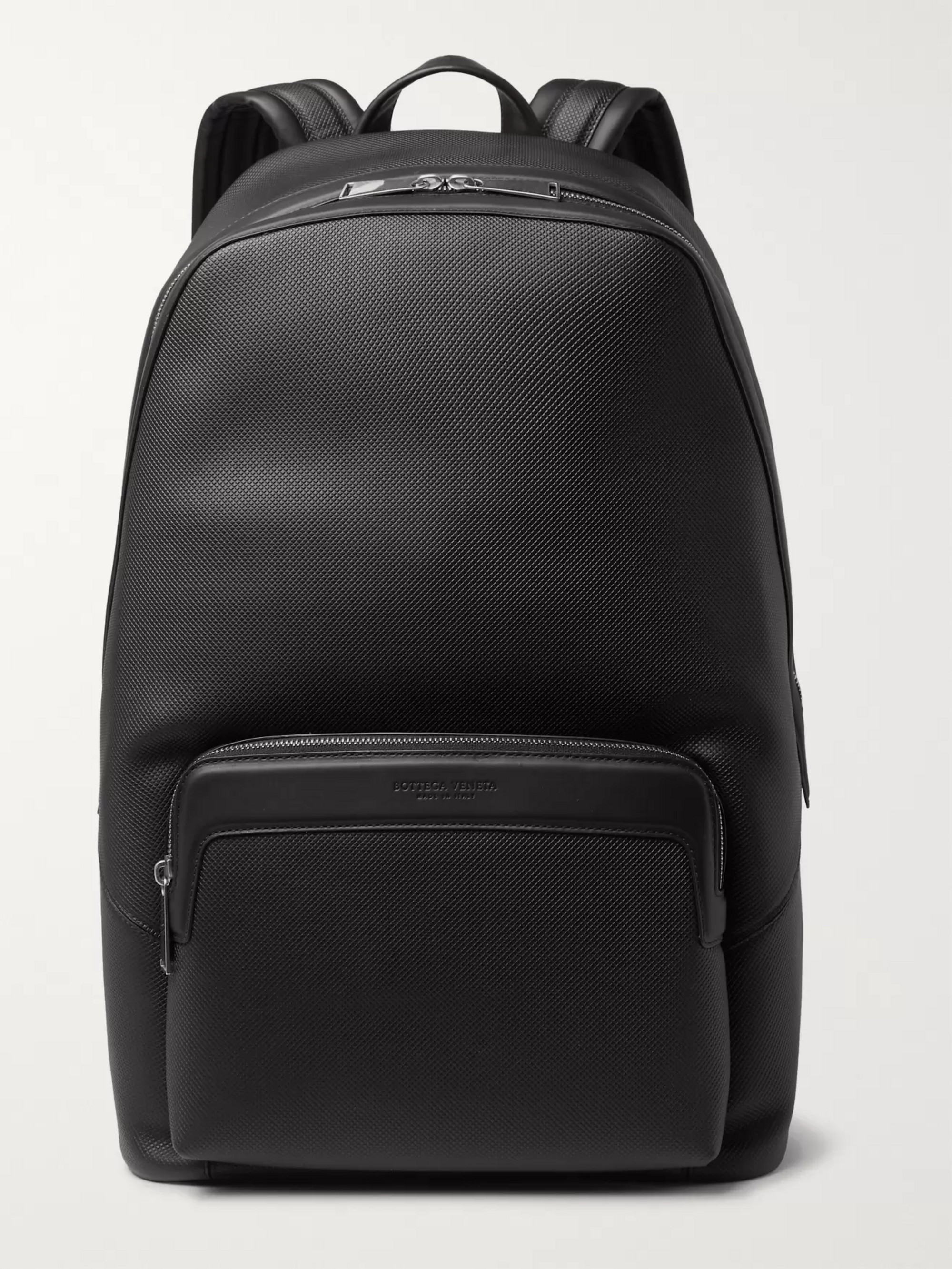 Bottega Veneta Marco Polo Textured-Leather Backpack