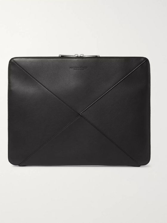 Bottega Veneta Intrecciato Leather Zip-Around Pouch