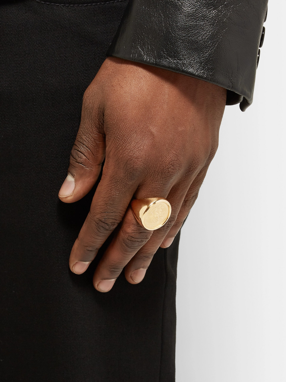 Bottega Veneta Accessories GOLD-PLATED SIGNET RING