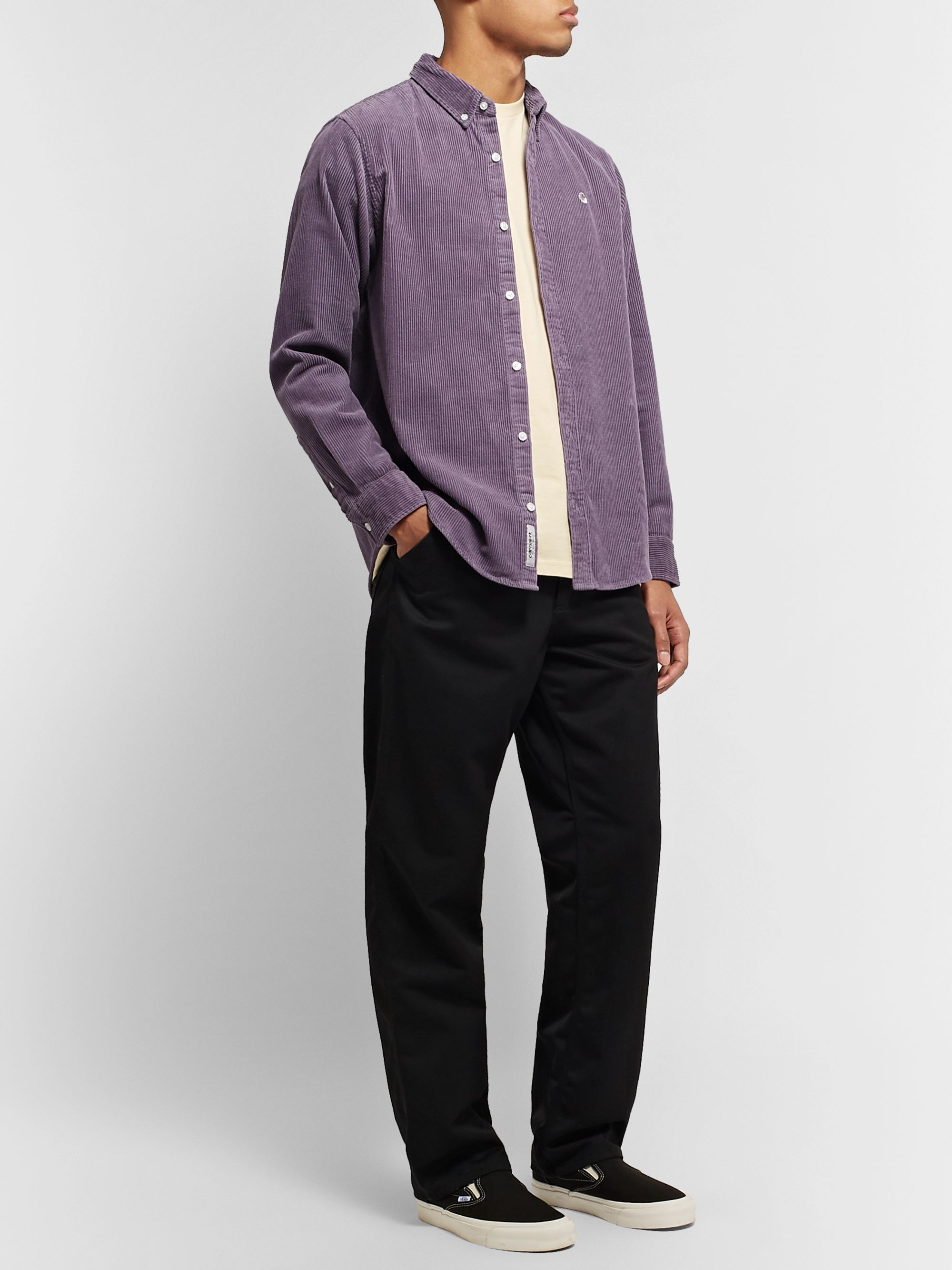 Carhartt WIP Madison Button-Down Collar Cotton-Corduroy Shirt