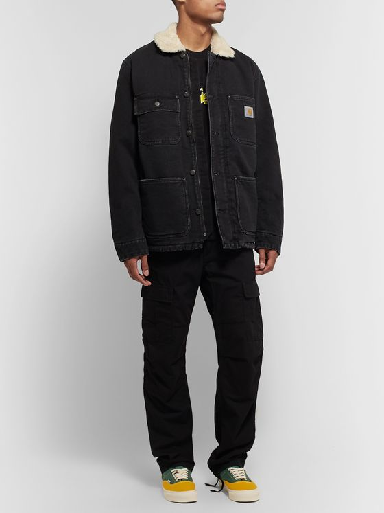 Carhartt WIP Faux Shearling-Lined Denim Jacket
