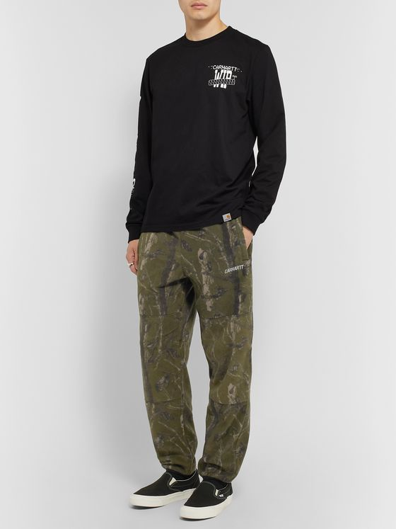 Carhartt WIP Beaufort Camouflage-Print Fleece Sweatpants