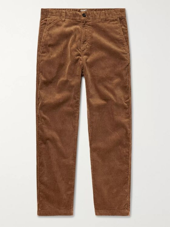 Carhartt WIP Menson Cotton-Blend Corduroy Trousers