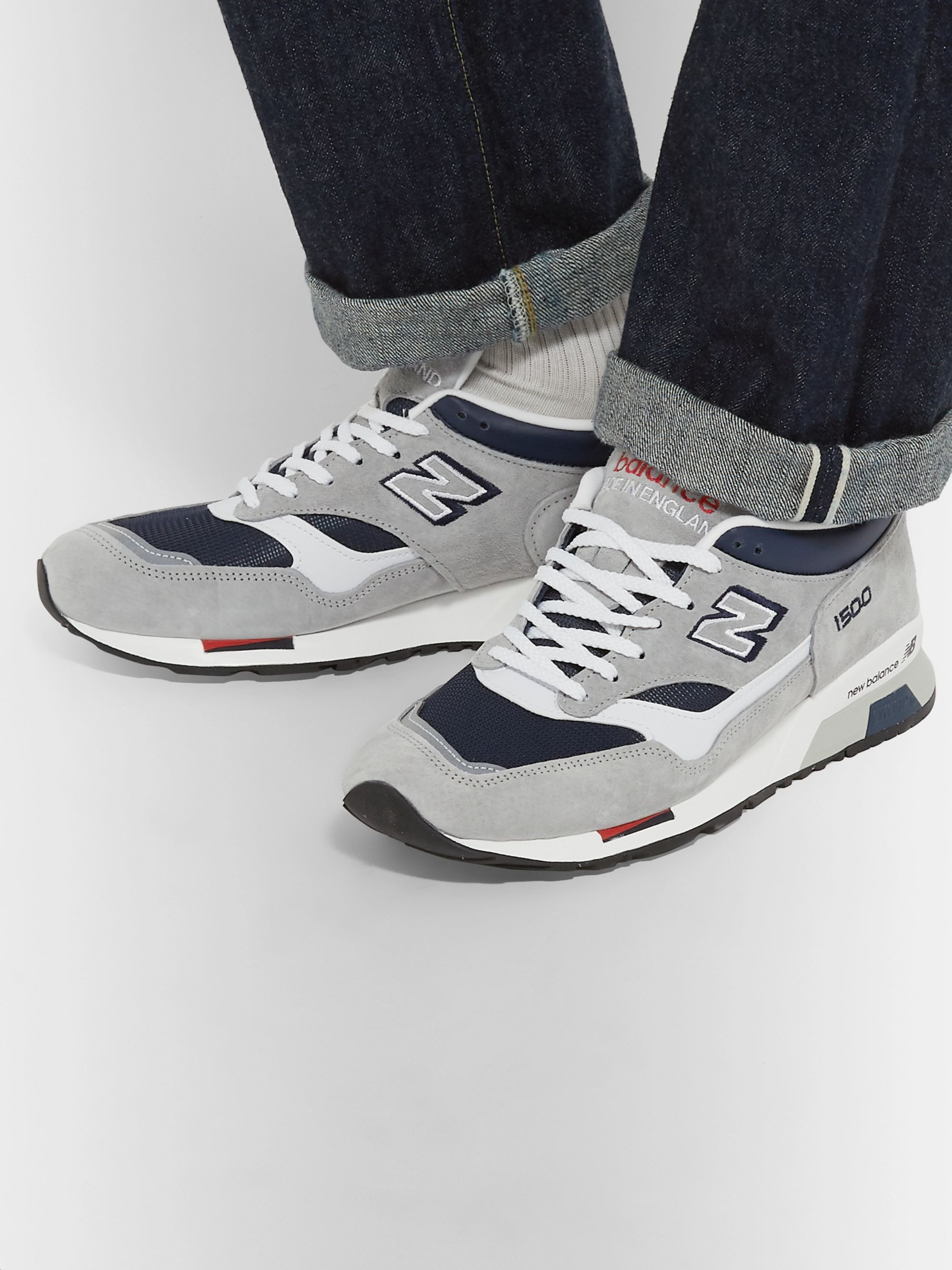 half off f6bce 7d5ce M1500 Suede, Leather and Mesh Sneakers