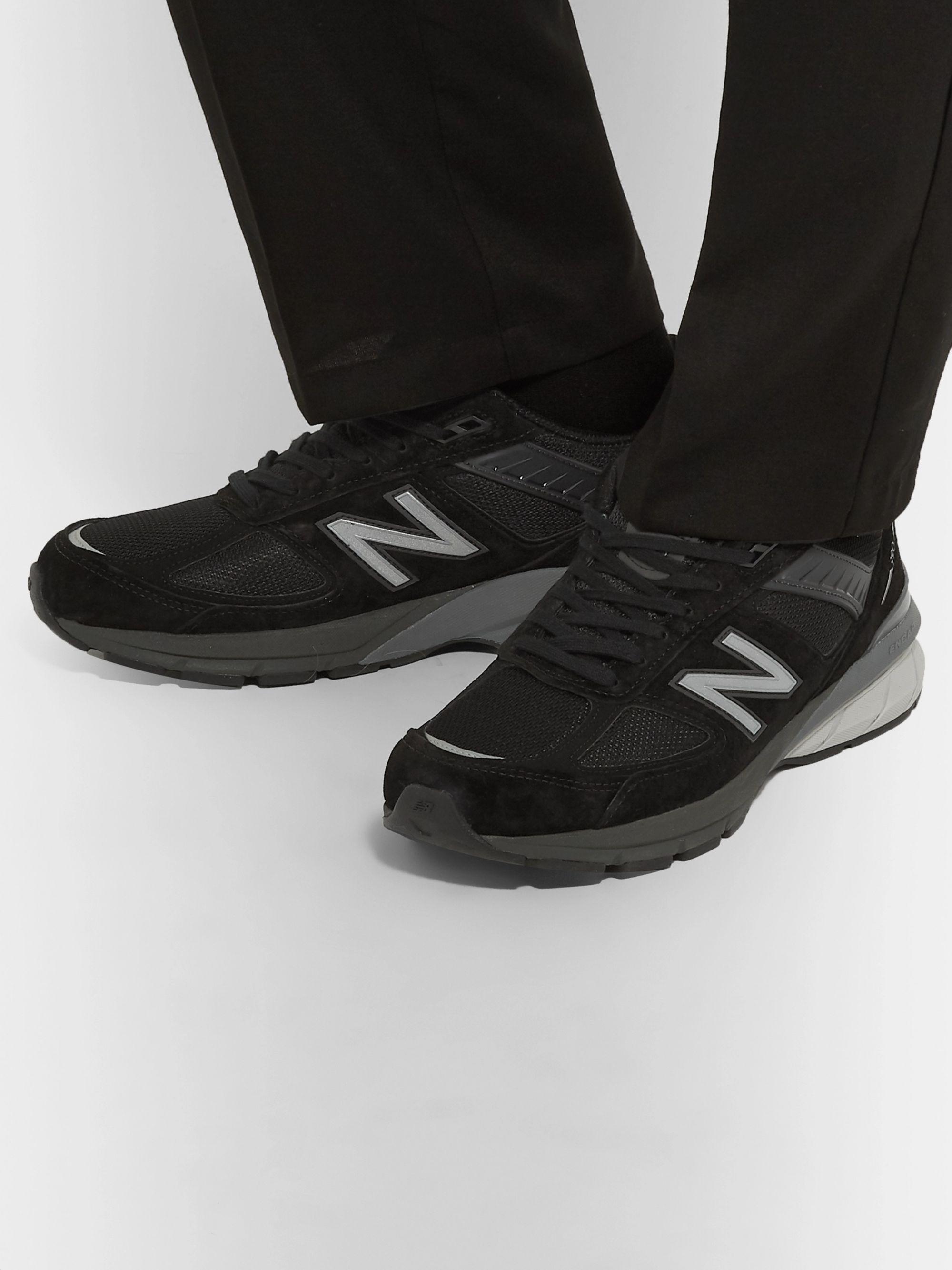 new balance black suede