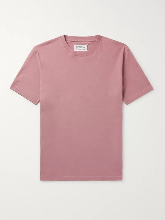Maison Margiela Garment-Dyed Cotton-Jersey T-Shirt