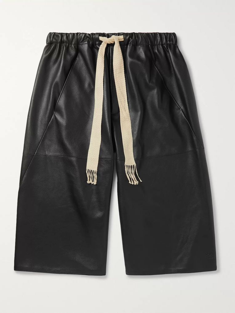Loewe Leather Drawstring Shorts
