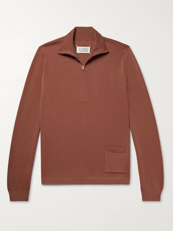 Maison Margiela Slim-Fit Wool Half-Zip Sweater