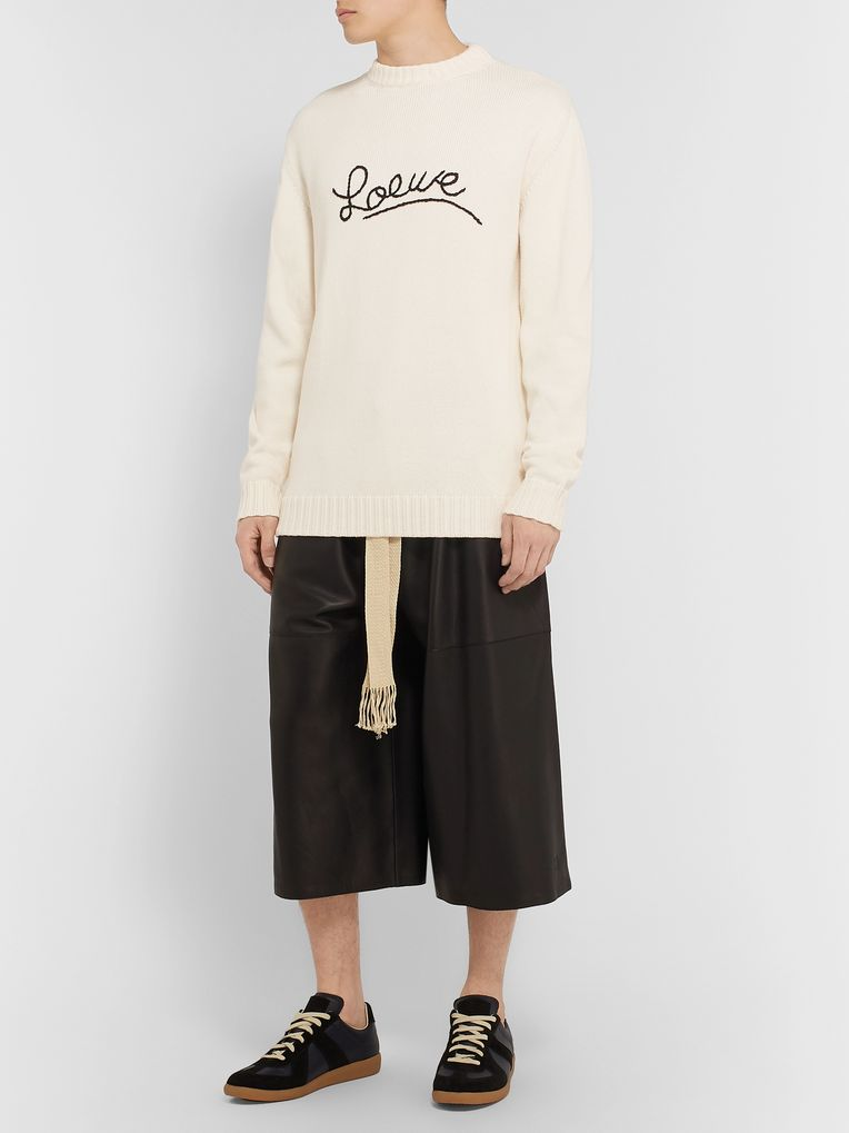 Loewe Logo-Embroidered Cotton Sweater