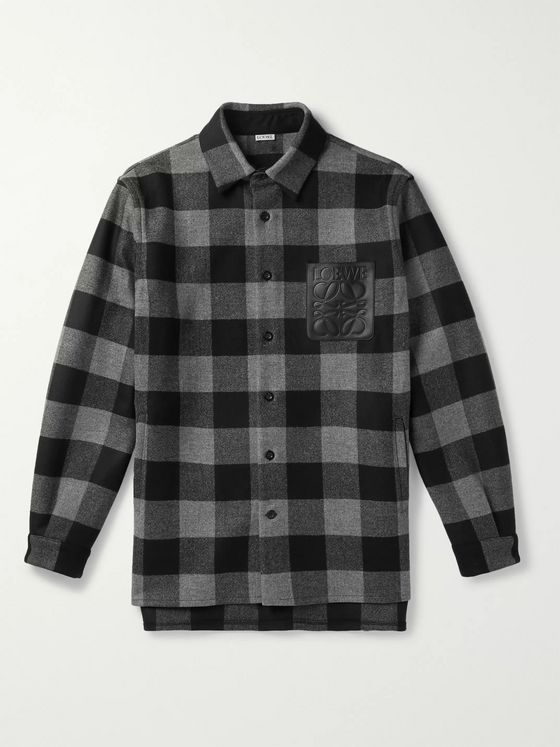 Loewe Checked Wool-Twill Overshirt