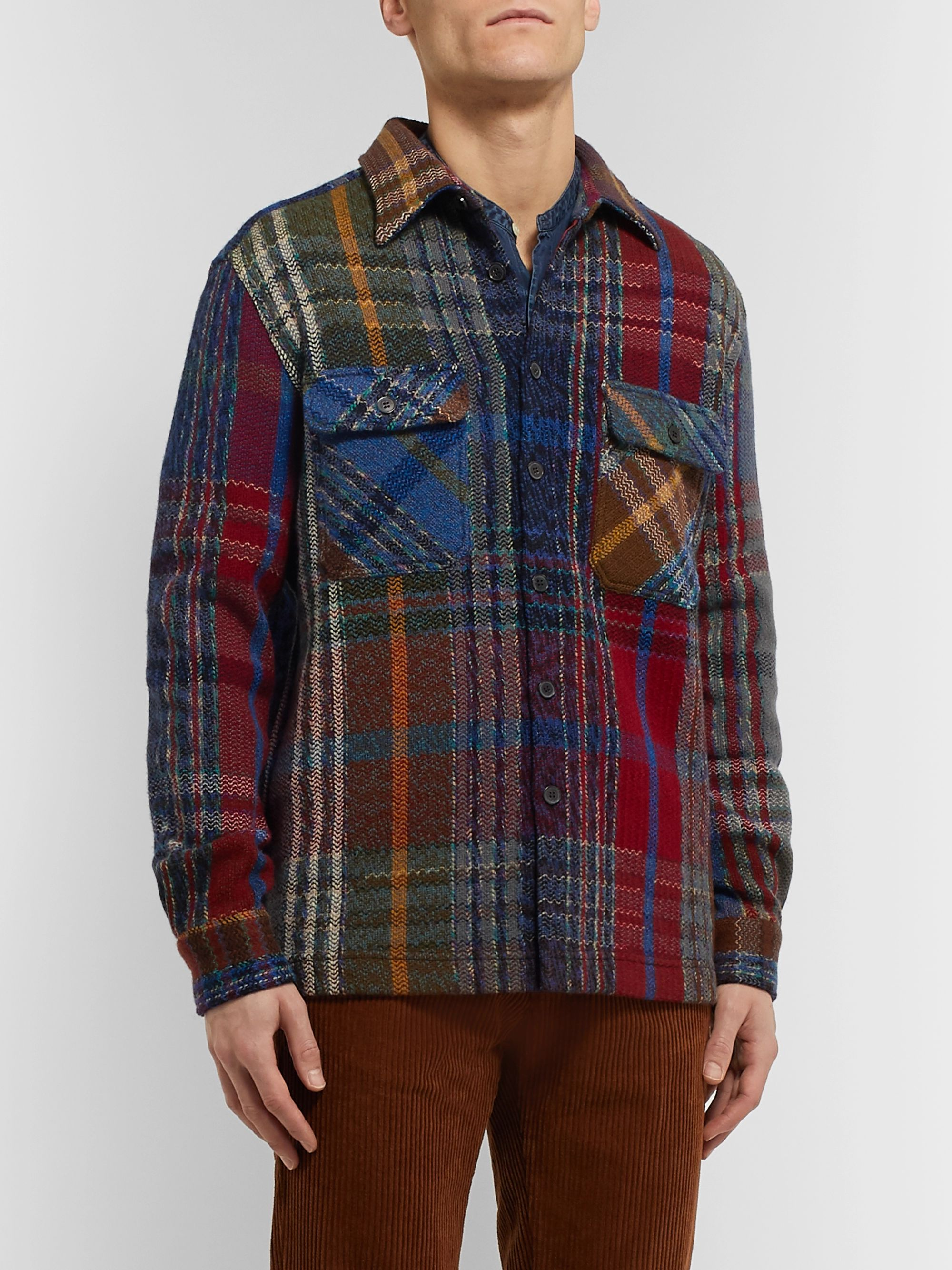 Missoni Checked Wool-Blend Overshirt