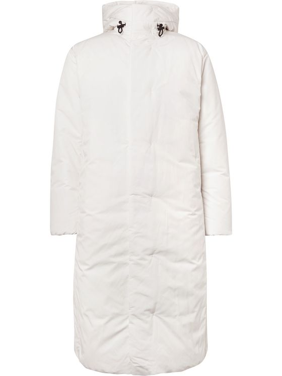 Theory Oversized Quilted Shell Hooded Down Coat